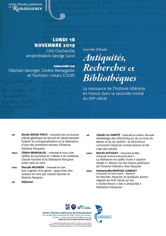 Affiche Bibliothèques CESR