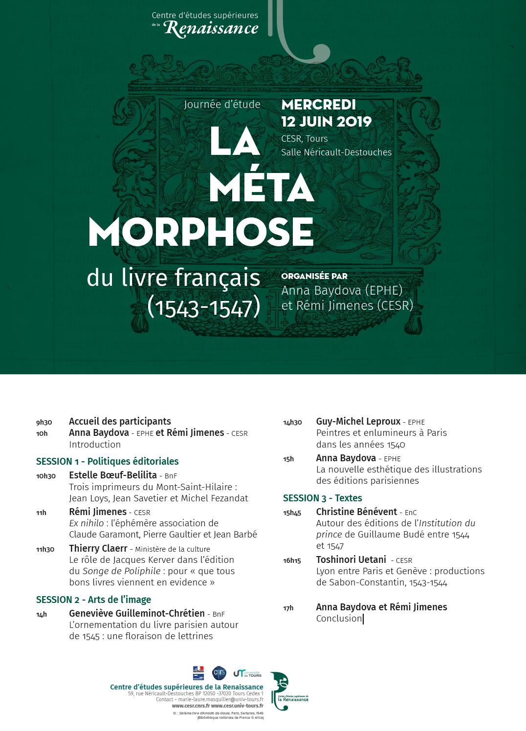 AFFICHE - La métamorphose du livre français