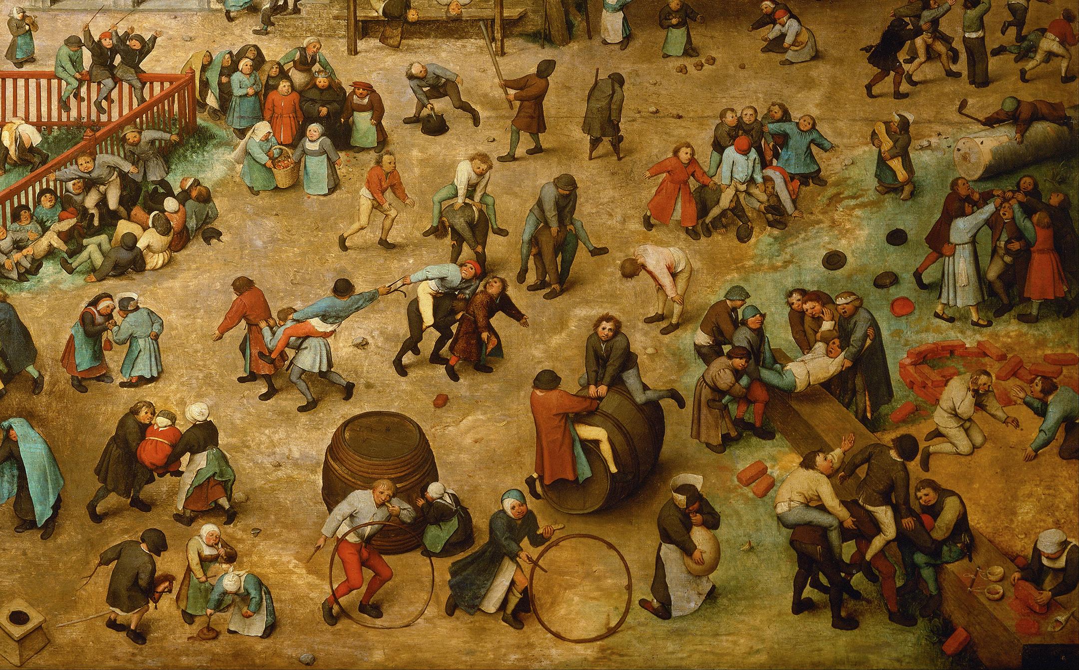 Pieter Bruegel l'Ancien, Jeux d'enfants, 1560, Musée d'histoire de l'art de Vienne