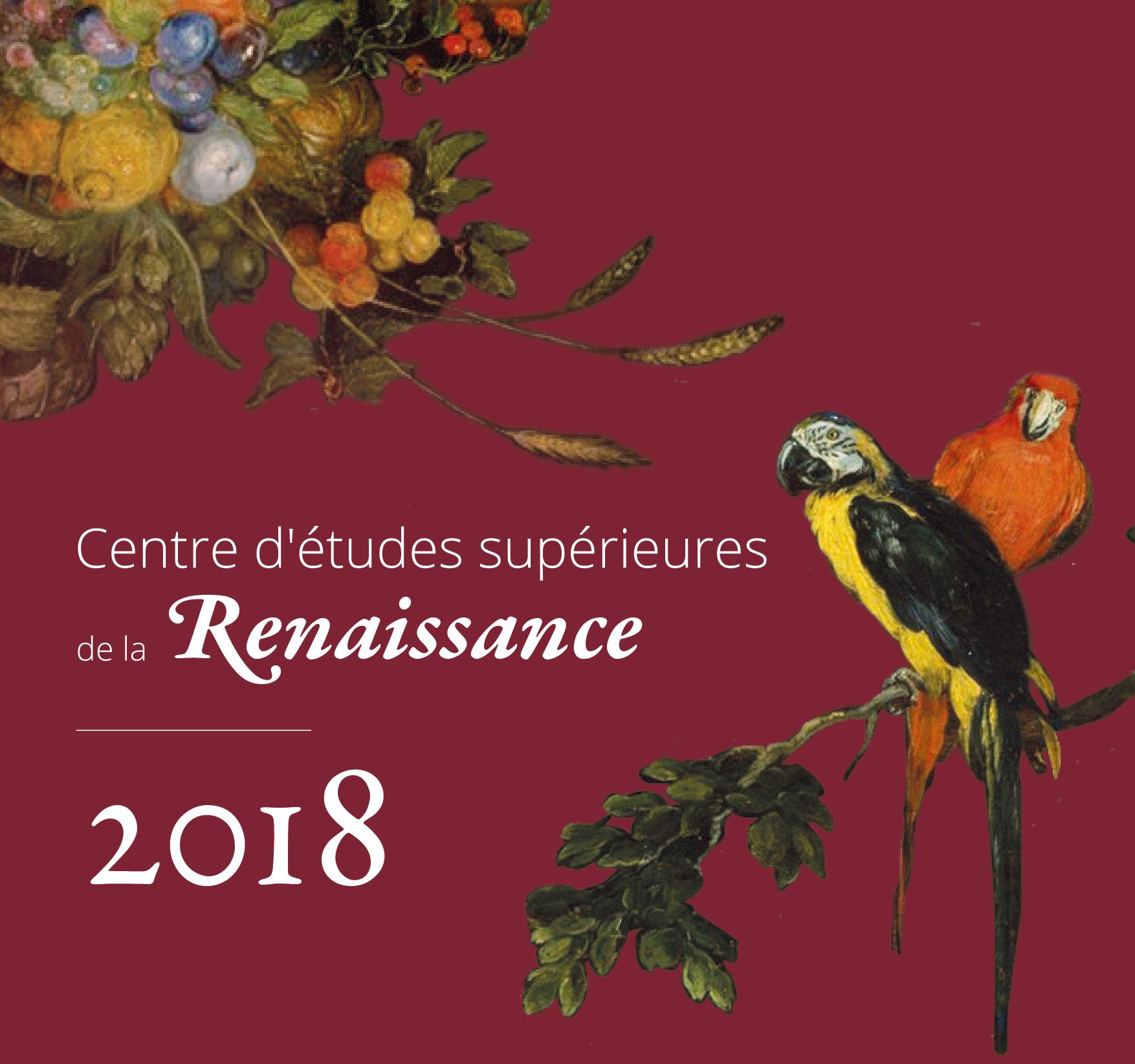 Visuel - Calendrier des manifestation CESR 2018